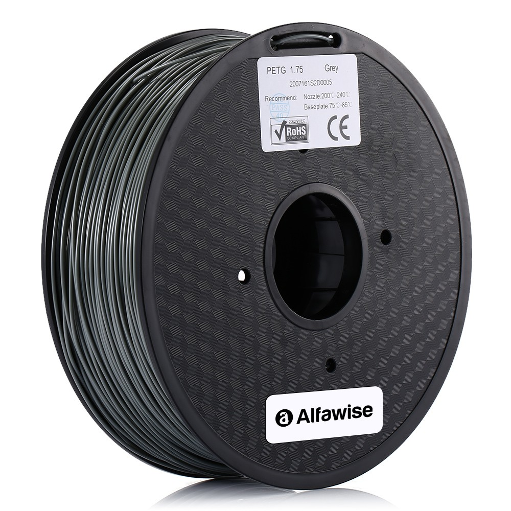 Alfawise 1.75mm PETG 3D Printer Filament High-quality for Artillery Alfawise ANYCUBIC Creality All FDM 3D Printer - Red