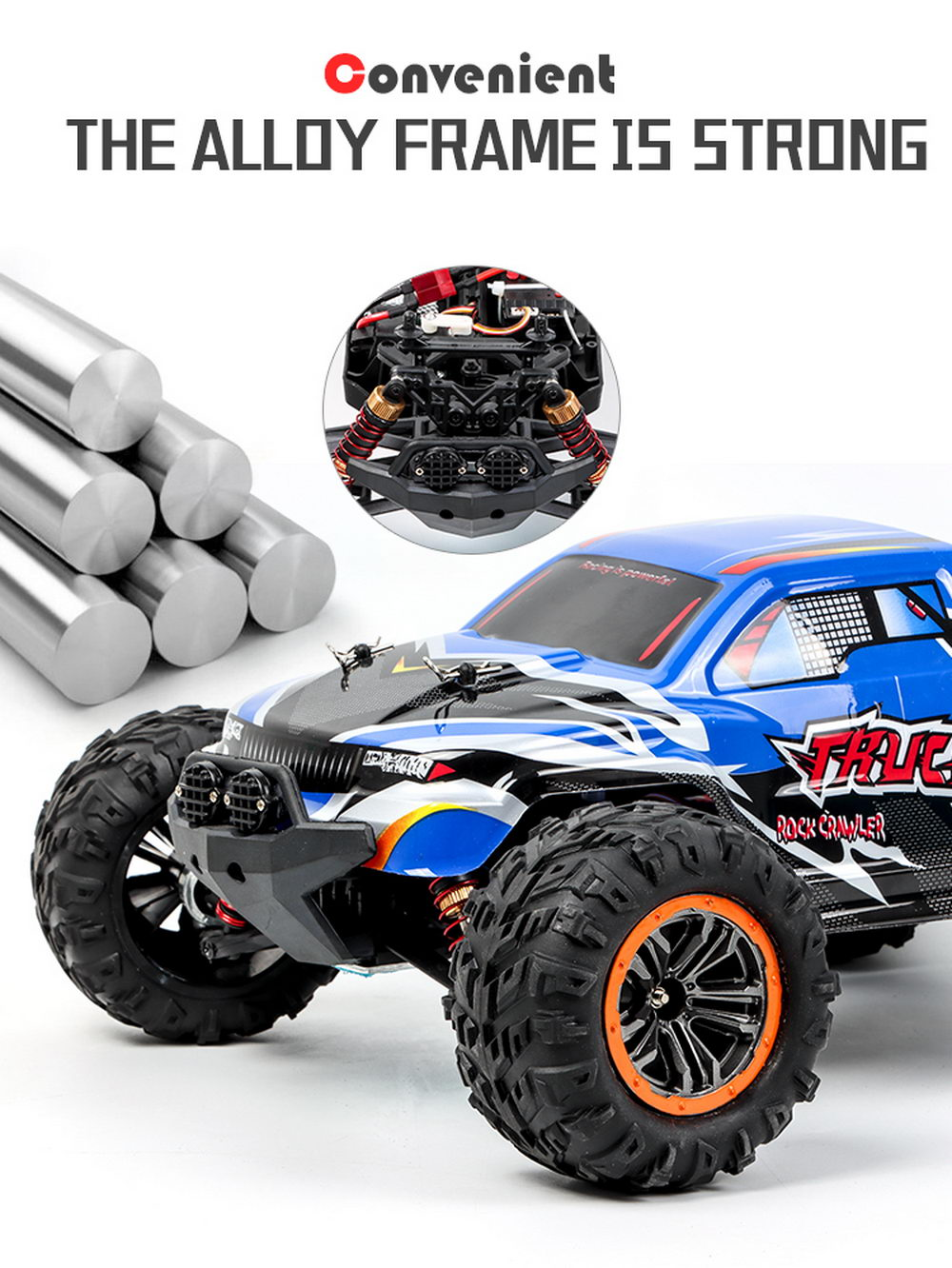 1:12 Child Electric RC Off-Road Crawler Car Toy - Blue