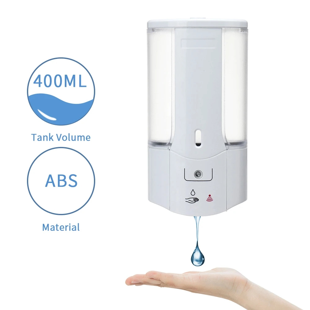 Wall Mounted Automatic Soap Dispenser 400ML - White