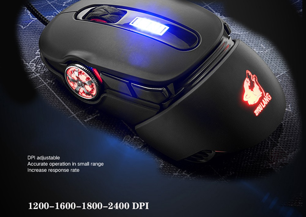 V11 Wired Mechanical Mouse Macro Programming Gaming Sports Car Shape Mice - Black