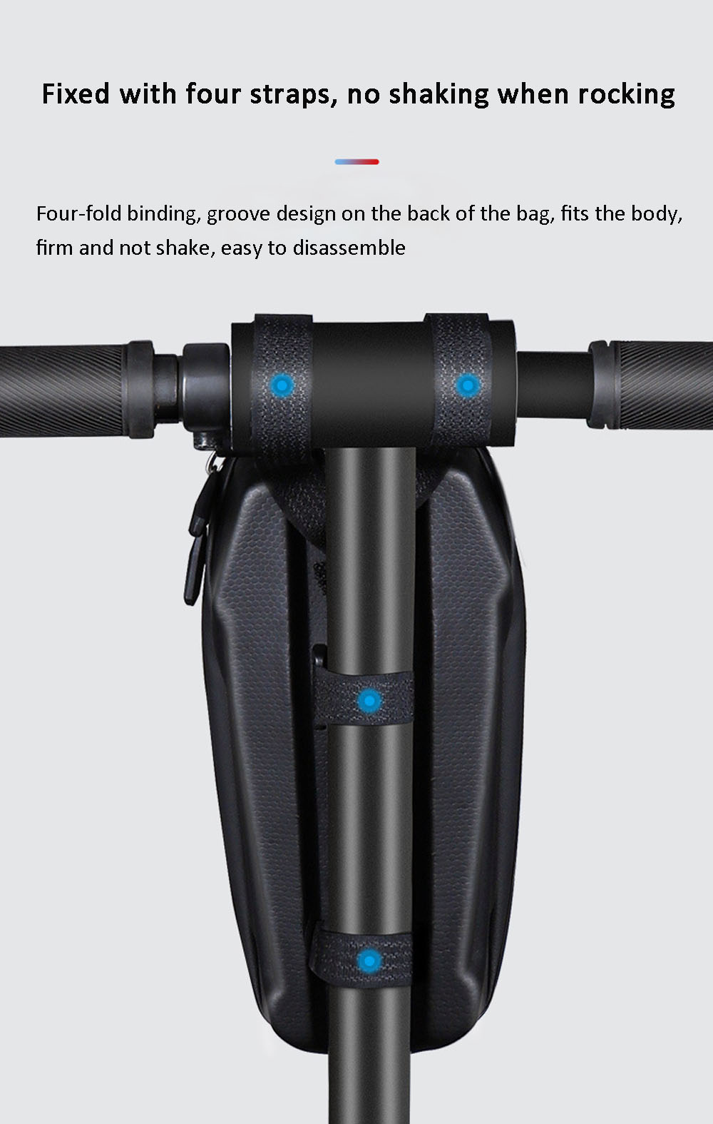 GUB 926 2.6L Bicycle Handlebar Bag EVA Hard Shell Shock Resistance Bike Frame Bag Essential Bicycle Parts for Cycling Electric Scooter Folding Bicycle - Black