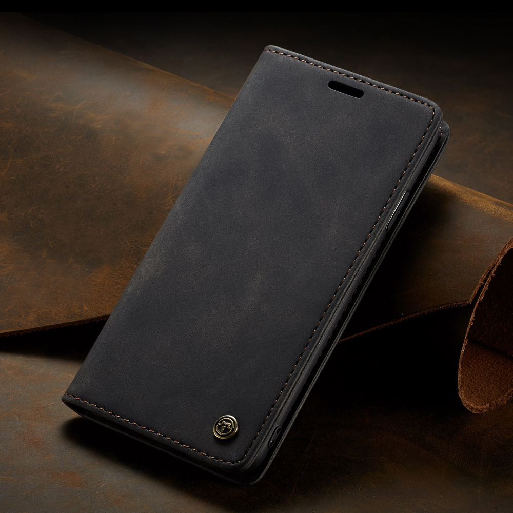 Leather Phone Case Protection Cover for iPhone 12/iPhone 11 Series - Black iPhone 11