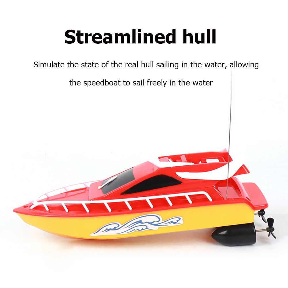 High-speed Remote Control Boat Speedboat Summer Water Model Long Lasting Battery Life Children Remote Control Toys - Crystal Blue