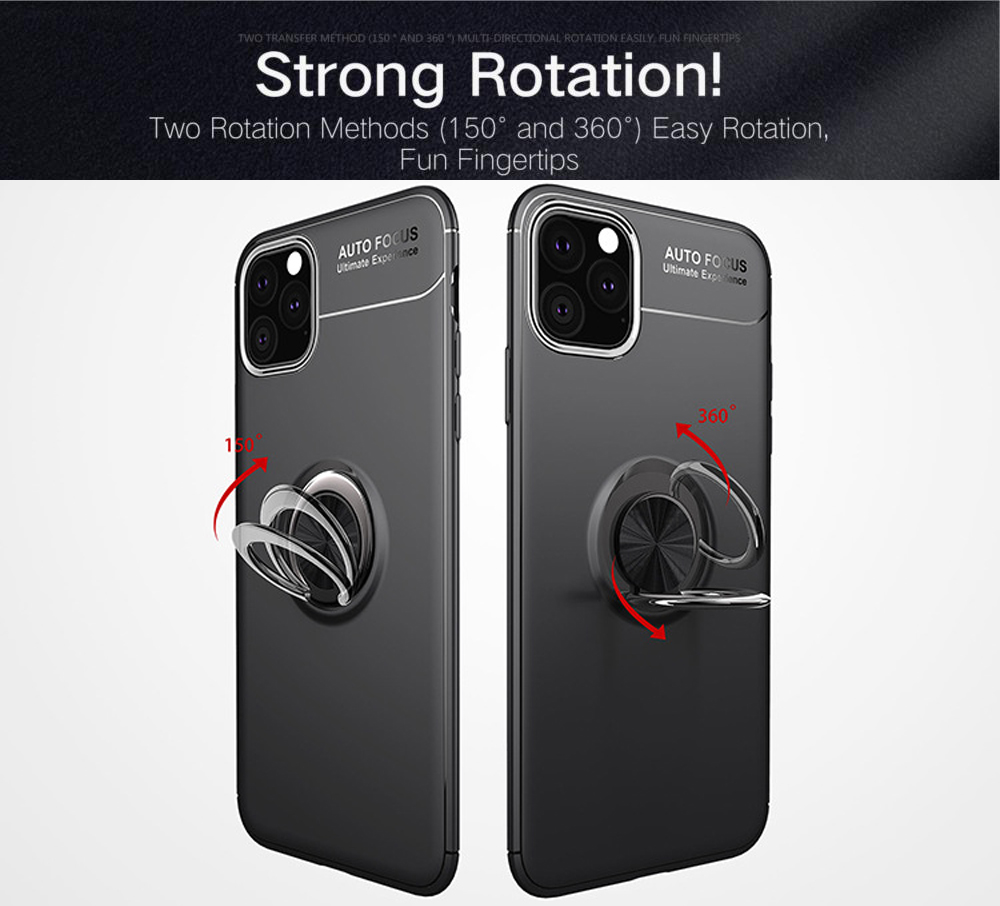 TPU Anti-knock Phone Case with Ring Stand for iPhone 12 Series - Red iphone 12/iphone 12 pro