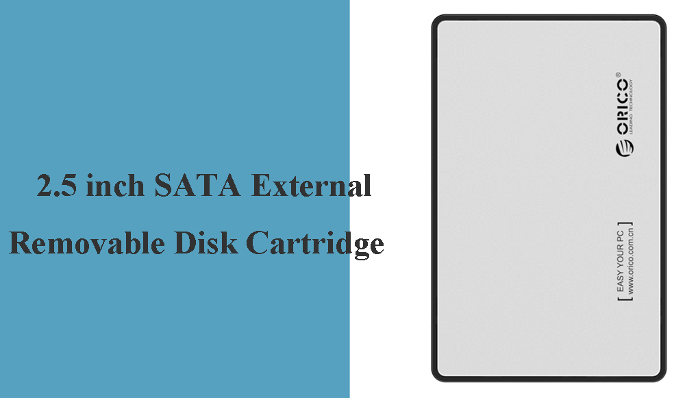 ORICO 2588US3-V1-S 2.5 inch SATA External Removable Disk Cartridge Serial High-speed Transmission, Tool, Mass Storage - Silver