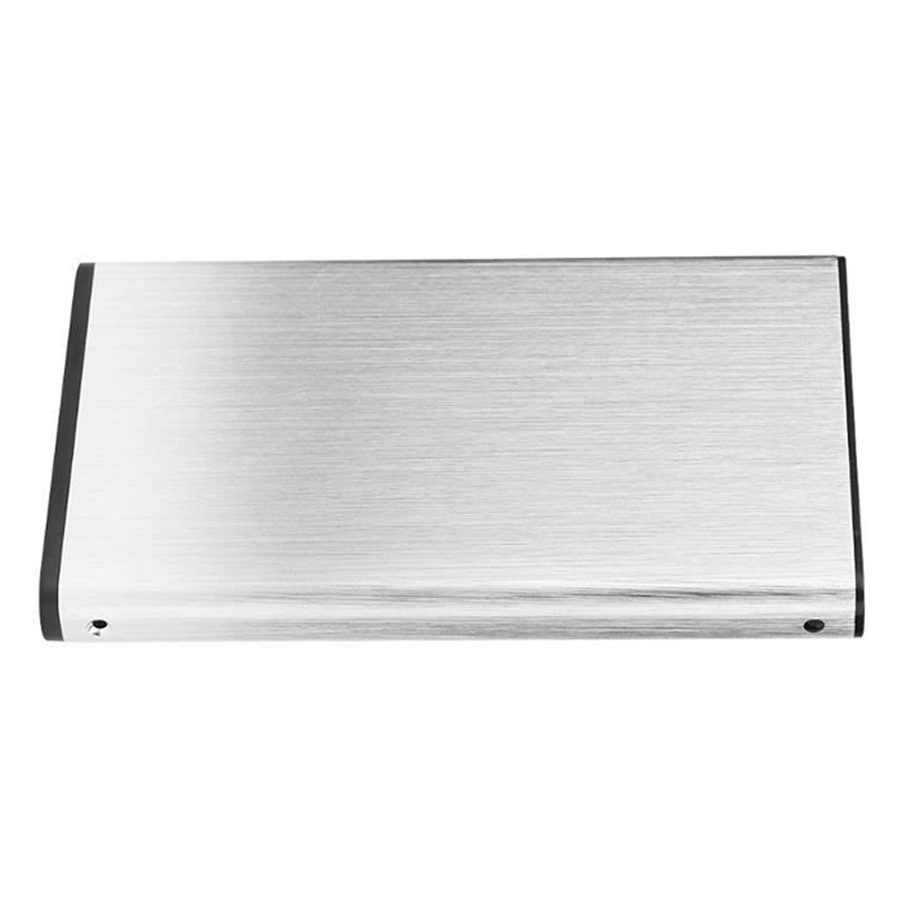 2.5 inches USB3.0 to SATA External Enclosure Plug and Play Metal Portable High-speed Transmission - Silver