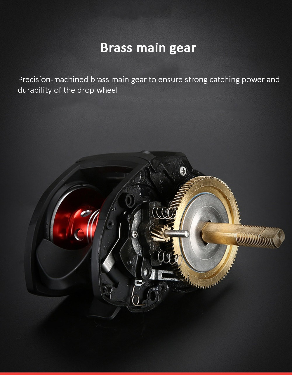 High Speed 8.1:1 Gear Ratio Fishing Reel Rotary Wing Side Cover 22-speed Magnetic Brake System Aluminum Alloy Linear Cup - Black Left Hand