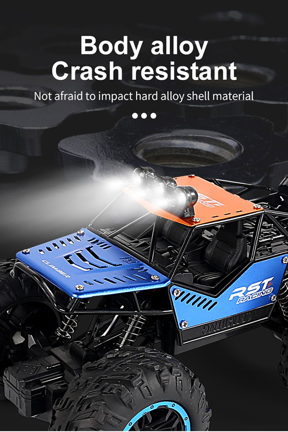 Children Electric Remote Control Carization Off-Road Vehicle Model Climbing Car Toy - Blue