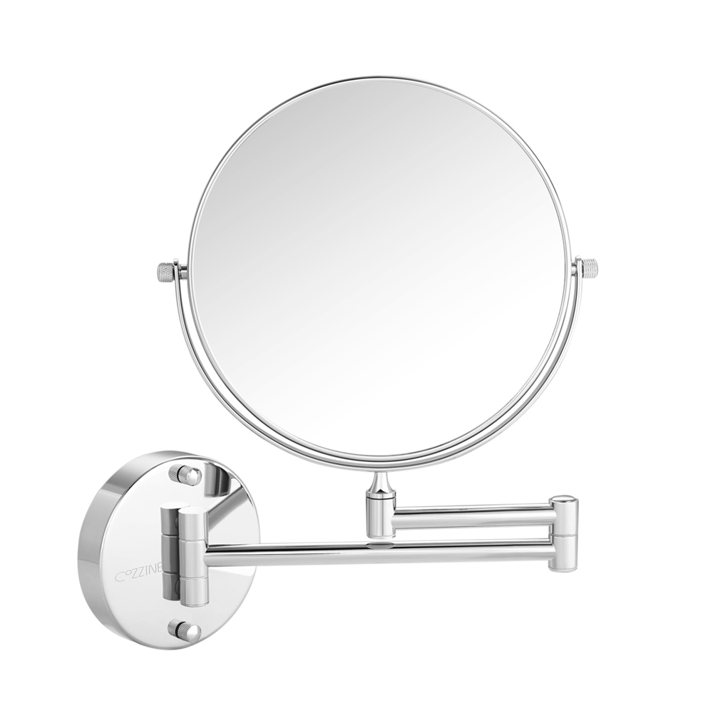 Wall Mount Makeup Mirror Silver 10x And