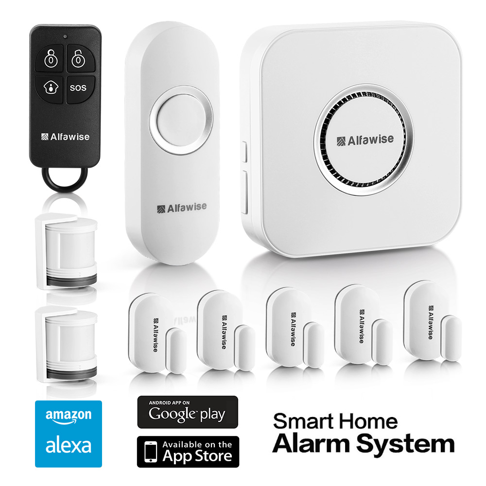 Alfawise Sa 1168 T90 Home Smart Security Alarm 9708 Free Mini Pir Motion Sensor Switch W Built In Timer Switches Relays White