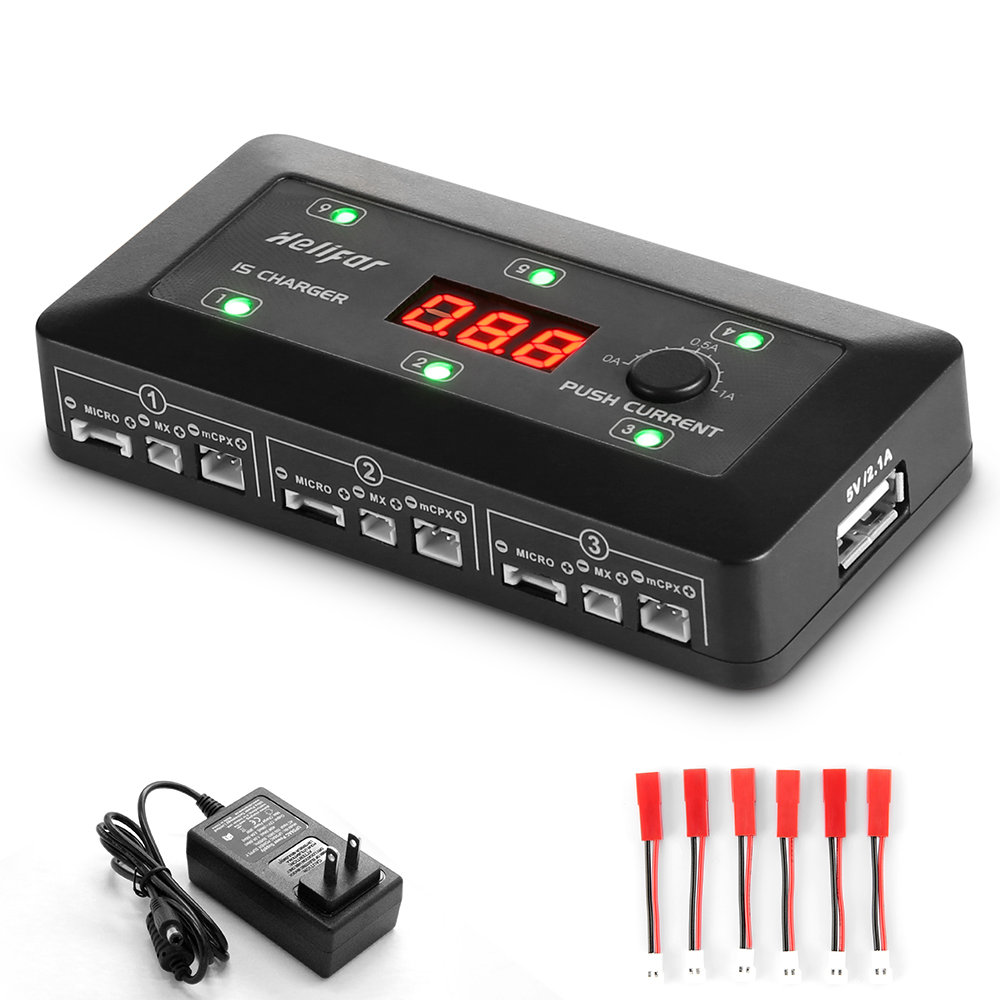 Helifar Up S6 1s Lipo Battery Balance Charger 2499 Free Lcd 60v 100a Dc Rc Voltage Watt Meter Power Analyzer Black A Plug Type