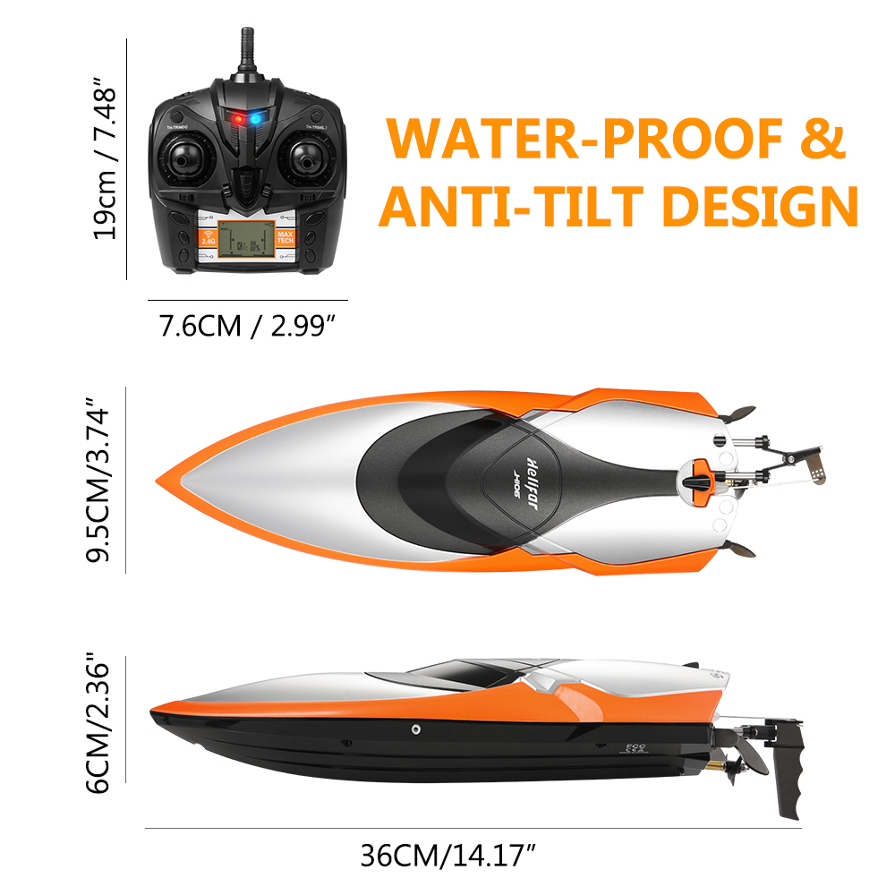 helifar H106 RC Racing Boat- Orange