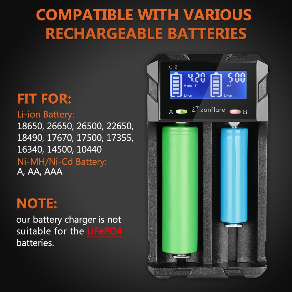 Zanflare Hxy H2m Versatile Usb Battery Charger 1297 Free Automatic Ni Mh Can Make By Yourself Black