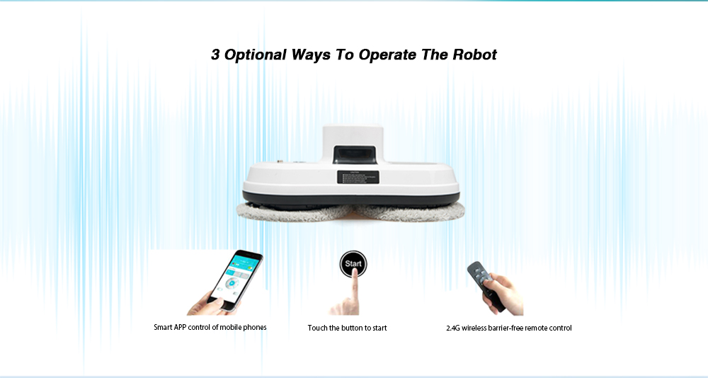 Alfawise S60 Robotic Window Cleaner Automatic Glass Cleaning Robot- White EU Plug