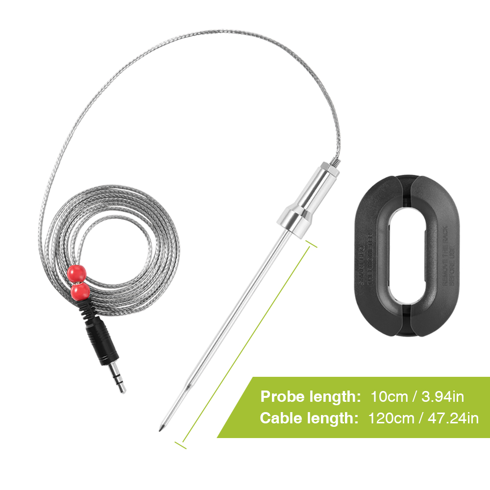 zanmini Pair of 304 Stainless Steel Probe- Black