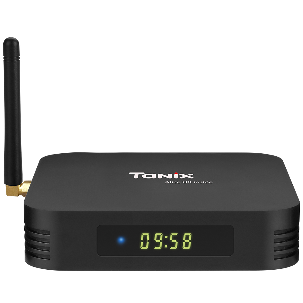 Tanix TX6 TV Box 2.4GHz + 5.8GHz WiFi BT5.0- Nero Spina UE da 4 GB RAM + 32 GB ROM
