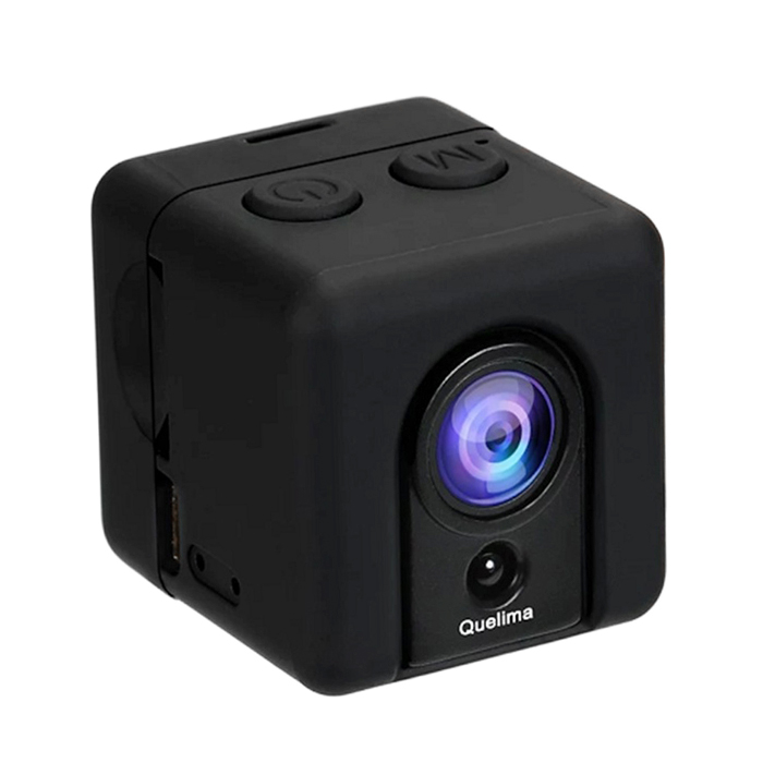 Quelima SQ20 Mini DVR Loop Videoregistratore HD Portatile Sportivo DV - Nero