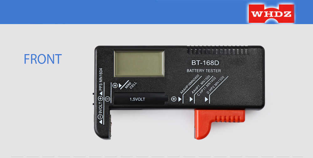 New Indicator BT-168 Universal Battery Cell Tester with Probe Battery Test