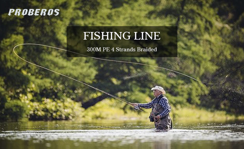 PROBEROS 300M PE Fishing Line Strong 4 Strands Braided Wire