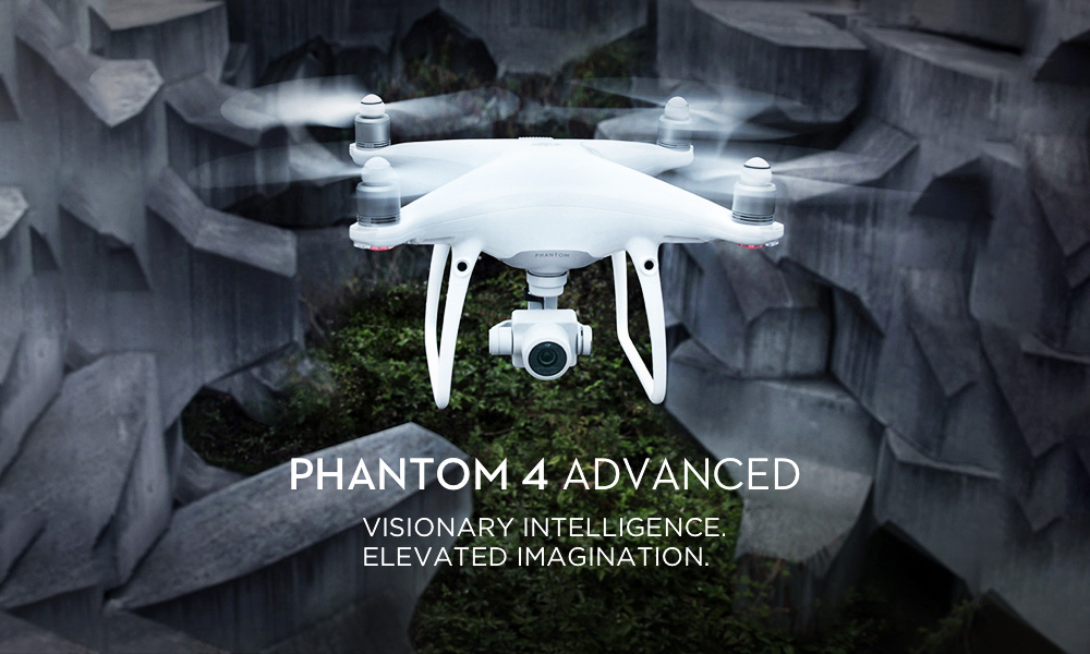 DJI Phantom 4 Advanced RC Drone RTF WiFi FPV 20MP 4K Camera / 5 Vision Sensors / Gesture Mode