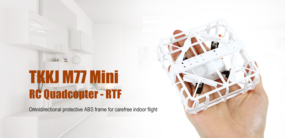 TKKJ M77 Mini RC Quadcopter RTF Omnidirectional Protection / Headless Mode / One Key Return