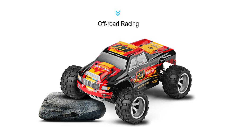 Package Contents: 1 x RC Truck ( Battery Included ), 1 x Transmitter, 1 x  USB Cable, 1 x English Manual