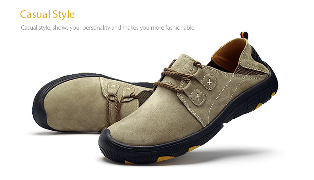Outdoor Lace Up Anti-slip Hiking Shoes for Men