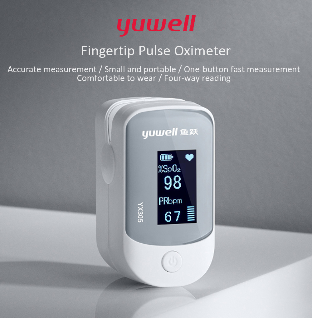 Yuwell YX305 Fingertip Pulse Oximeter Blood Oxygen Monitor from Xiaomi  Youpin