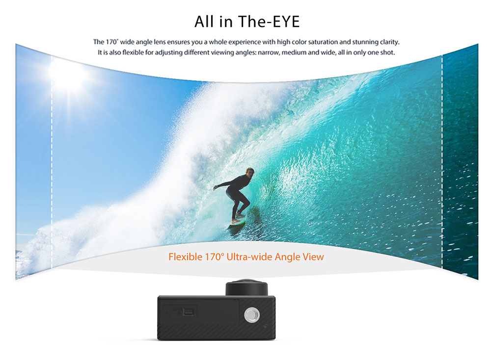ThiEYE T5 Edge Live Stream Version Native 4K WiFi Action Camera with Voice Commands Remote Control- Black