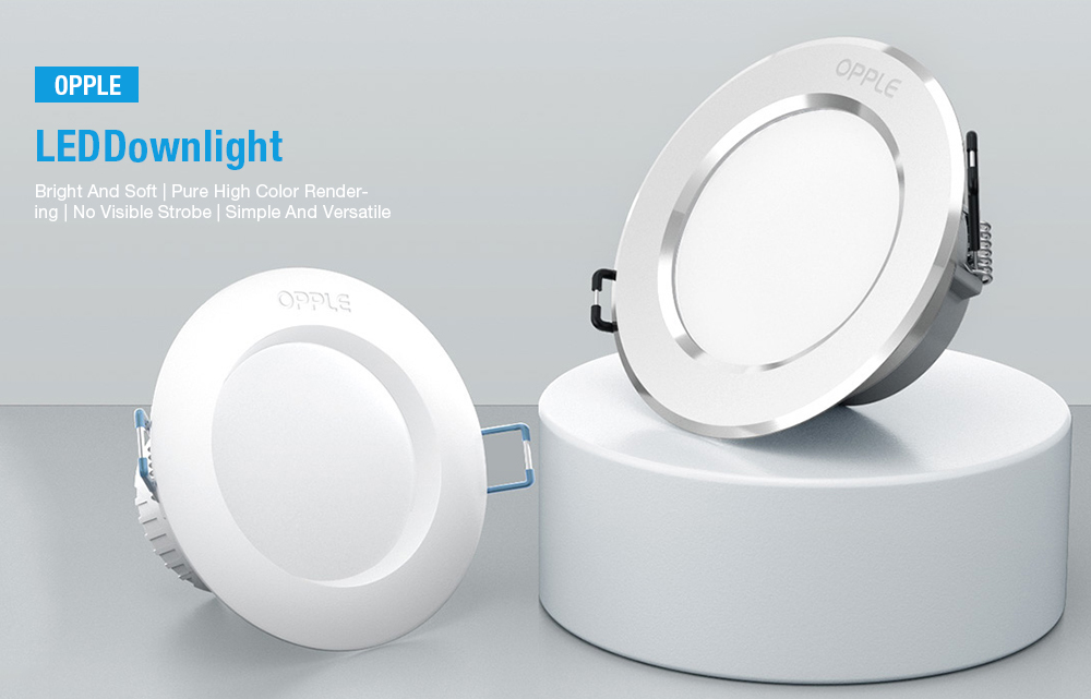 LED Downlight 80Ra 3W 220V from Xiaomi youpin White Warm White